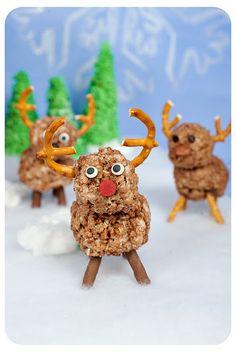 rice krispie reindeer