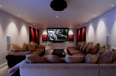 Husbands dream movie room for the basement!