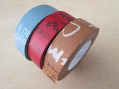 Washi Tape  3 Roll Set  Classiky Japanese Washi by HazalsBazaar, $14.95