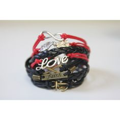 Love, Owls, And Infinity Bracelet (1325 DZD) ❤ liked on Polyvore featuring jewelry, bracelets, infinity jewelry, adjustable bangle, owl bangle, owl jewelry and owl jewellery