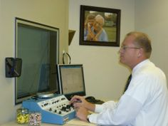 Hearing specialist Brook McQuown performing a hearing test. Hearing Aid Healthcare is the best hearing aid sales, fitting, service and repair provider in Palm Desert CA. See us for hearing tests, hearing aid repair, batteries, and accessories. Great reviews. For appointments: Hearing Aid HealthCare 44630 Monterey Avenue, #100 Palm Desert, CA 92260 (760) 610-0145 http://www.hahc.net