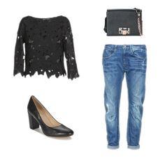 Pour être au top de la tendance, on opte illico presto pour un jean boyfriend G-Star Raw, un top ajouré et une paire d'escarpins BT London et un sac à main Vivienne Westwood. #fashion #outfit