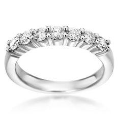 SummerRose 14k White Gold 3/4ct TDW Diamond Ring (H-I, SI1-SI2) (Size 6.5), Women's