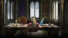 Pottermore Background: Owlry by xxtayce on DeviantArt