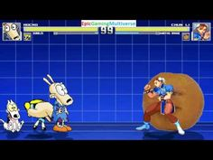 Annoying Orange And Chun-Li VS Rocko And Bubbles The Powerpuff Girl In A MUGEN Match / Battle This video showcases Gameplay of Bubbles The Powerpuff Girl From The Powerpuff Girls Series And Rocko From The Rocko's Modern Life Series VS Chun-Li From The Street Fighter Series And The Annoying Orange In A MUGEN Match / Battle / Fight