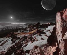 Oamanhecer nos planetas doSistema Solar - Plutão