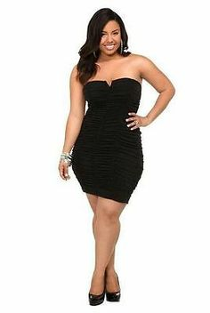 plus size strapless dress - Sizing