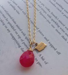 Tiny Brass Oklahoma Charm Necklace Gold Plated by fortyoneSparkles