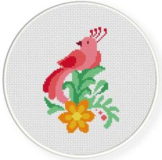 FREE for April 23rd 2014 Only - Paradise Bird Cross Stitch Pattern