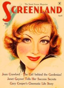 CHARLES GATES SHELDON (American, 1889-1960)  Joan Crawford, Screenland magazine cover, April 1935