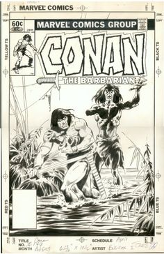 1983 - Anatomy of a Cover - Conan the Barbarian #149 by John Buscema #ComicBooks #ComicArt