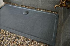 Receveur de douche en pierre MERCURION SHADOW Granit noir LUXE ...
