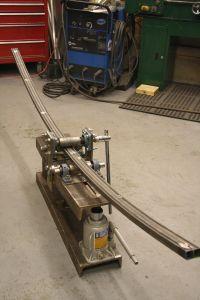 Cool metal craftsmanship using a bender and welder.