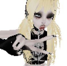 Virtual Girl, Animes Yandere, Cybergoth, Cartoon Art Styles, Dark Anime, Cute Icons, Alter, Cute Art, Art Inspo