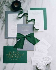 With elegant touches of green, gray, and gold, this Boston-based couple had a classic celebration by the sea in Rhode Island.