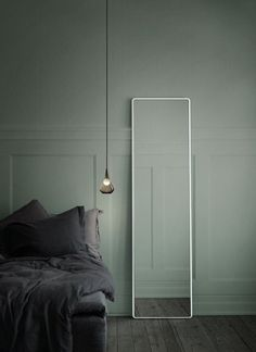 I feel like this would be a great way to decorate a spare room when you actually don't have anything to put in it. Make it look deliberate. (Vipp.com) #graywalls