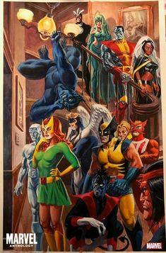Marvel anthology art by Alex Ross Ms Marvel, Marvel Comic Universe, Comics Universe, Marvel Heroes, Captain Marvel, Marvel Comic Character, Comic Book Characters, Marvel Characters, Comic Books Art