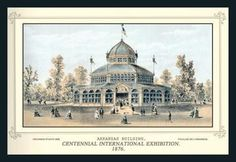 Centennial International Exhibition 1876 - Arkansas Building 28x42 Giclee on Canvas