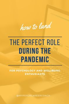 Looking for a job can be overwhelming. Looking for a psychology job during the pandemic can be nerve racking and make you anxious! I'm sharing with you easy tips that you can follow to land the role of your dreams and pursue your dream career in psychology or mental health field. This video will help psychology students and wellbeing enthusiasts applying for the right roles during this challenging times and landing that dream job! #psychologycareer #psychologystudents #mentalhealthcareer Psychology Careers, Psychology Student, Dream Career, Dream Job, Job Hunting Tips, Looking For A Job, Coach Me, You Know Where, Career Coach