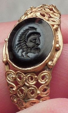 200AD MITHRA Cult Pater Aristocratic Ancient GOLD Roman Ring Jewelry Artifact   eBay