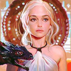 Game of Thrones - Daenerys Targaryen by Ilya Kuvshinov *