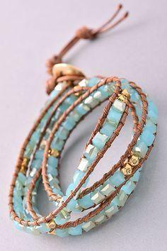 Our inspiration – Bracelet 100 – Alllick - new season bijouterie Beaded Wrap Bracelets, Handmade Bracelets, Beaded Jewelry, Handmade Jewelry, Skull Jewelry, Tribal Jewelry, Diy Jewelry, Bracelet Making, Jewelry Making