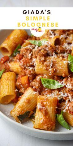 Giada Recipes, Pasta Recipes, Beef Recipes, Dinner Recipes, Cooking Recipes, Recipies, Italian Dishes, Italian Recipes, Italian Foods