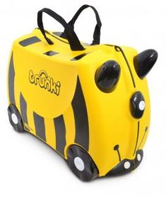 Buy Trunki Ride On Case - Bernard Bee online and save! Trunki – the world's first ride-on suitcase for globetrotting tots! Trunki was created to beat the boredom so often suffered by travelling tots. Childrens Suitcases, Childrens Luggage, Kids Luggage, Hand Luggage, Carry On Luggage, Luggage Bags, Luggage Suitcase, Travel Luggage, Traveling With Baby
