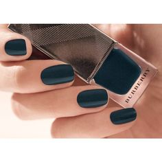 Burberry Nail Polish - Teal Blue No.427 ($22) ❤ liked on Polyvore featuring beauty products, nail care, nail polish, nails, beauty, makeup, burberry, opi nail lacquer, teal nail polish and nail varnish
