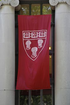 Harvard Law School flag at Langdell (Commencement 2011)