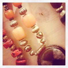 #frida #creazioni - #collana #pietre #colorate #colori #avorio #osso #india #ciondolo #argento #metallo #artigianato #Handmade #etnico #Frida #Verona