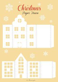 Manca meno di una settimana a Natale e nell'attesa abbiamo ideato alcune casette di carta per decorare la casa :)                 (Pe...