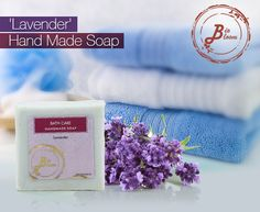 Feel refreshed & get radiant, moisturized skin with our Lavender 'Hand Made' Soap.