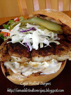 Cajun Halibut Burgers | Addicted to Recipes
