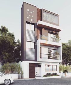 55 Ideas for apartment building elevation porches New Modern House, Modern Porch, Modern House Design, Modern Balcony, Facade Design, Exterior Design, Architecture Design, Building Elevation, House Elevation