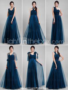 Wandelkleid bodenlangen Tüll A-Linie Kleid (1739560) 2015 – €75.99