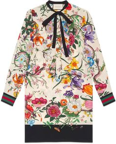 Floral Snake print silk dress