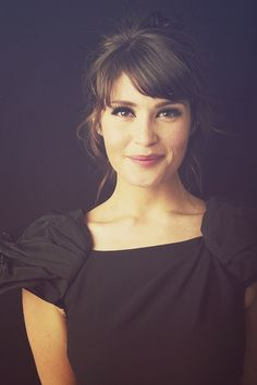 The inspiration for Faith: Gemma Arterton. Gorgeous hair (bangs/fringe)