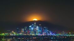 Moonrise over Los Angeles by Michael Holden on 500px