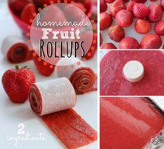 recept ovocne rolky Fruit Roll Ups, 2 Ingredients, Kiwi, Food And Drink, Homemade, Breakfast, Healthy, Harry Potter, Eten