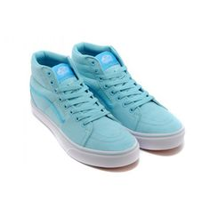 6652555695b2 Vans Shoes Sky Blue 1966 Commemorative Edition Sk8-Hi Shoes Womens Classic  Canvas
