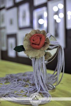 Handmade cloth necklace