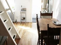 James Casey and Erin Boyle share a tiny Brooklyn Heights studio that is just 240 square feet.