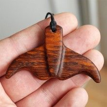 Whale tail, Whale Tail necklace, Tail pendant, Wooden pendant, Wood necklace, Wood jewelry, Hawaii jewelry, Wood whale tail, wood carving