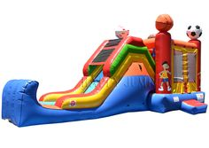 Backyard Jump & Slide -Sports (Wet & Dry): Moonwalks | Inflatable Water Slides | Bounce House | Inflatable Bouncers, Water Slides by Happy Jump