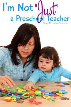 Not Just a Preschool Teacher - So Much More