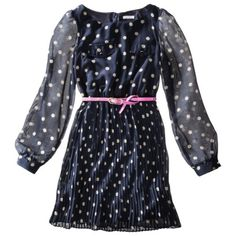 Xhilaration® Juniors Belted Polka Dot Dress - Assorted Colors
