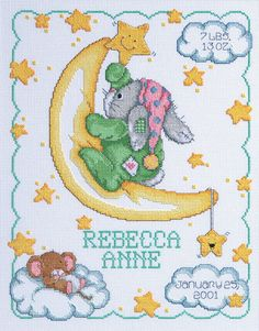 """Crescent Moon Sampler Counted Cross Stitch Kit-11""""""""X14"""""""" 14 Count"""