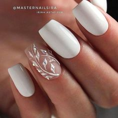 There are three kinds of fake nails which all come from the family of plastics. Acrylic nails are a liquid and powder mix. They are mixed in front of you and then they are brushed onto your nails and shaped. These nails are air dried. Bride Nails, Wedding Nails For Bride, Wedding Nails Design, Nail Wedding, Winter Wedding Nails, Simple Wedding Nails, Mauve Wedding, Maroon Wedding, French Wedding