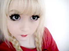 Eye Enlarging Makeup for doll like eyes. Great for anime lovers! {try to get past the incredibly annoying voice ;) }